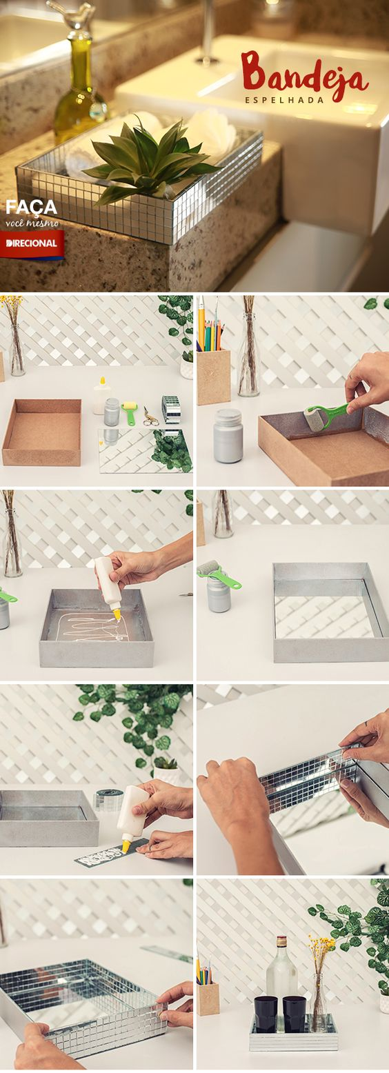 2 Ways to Make Mirror Tray
