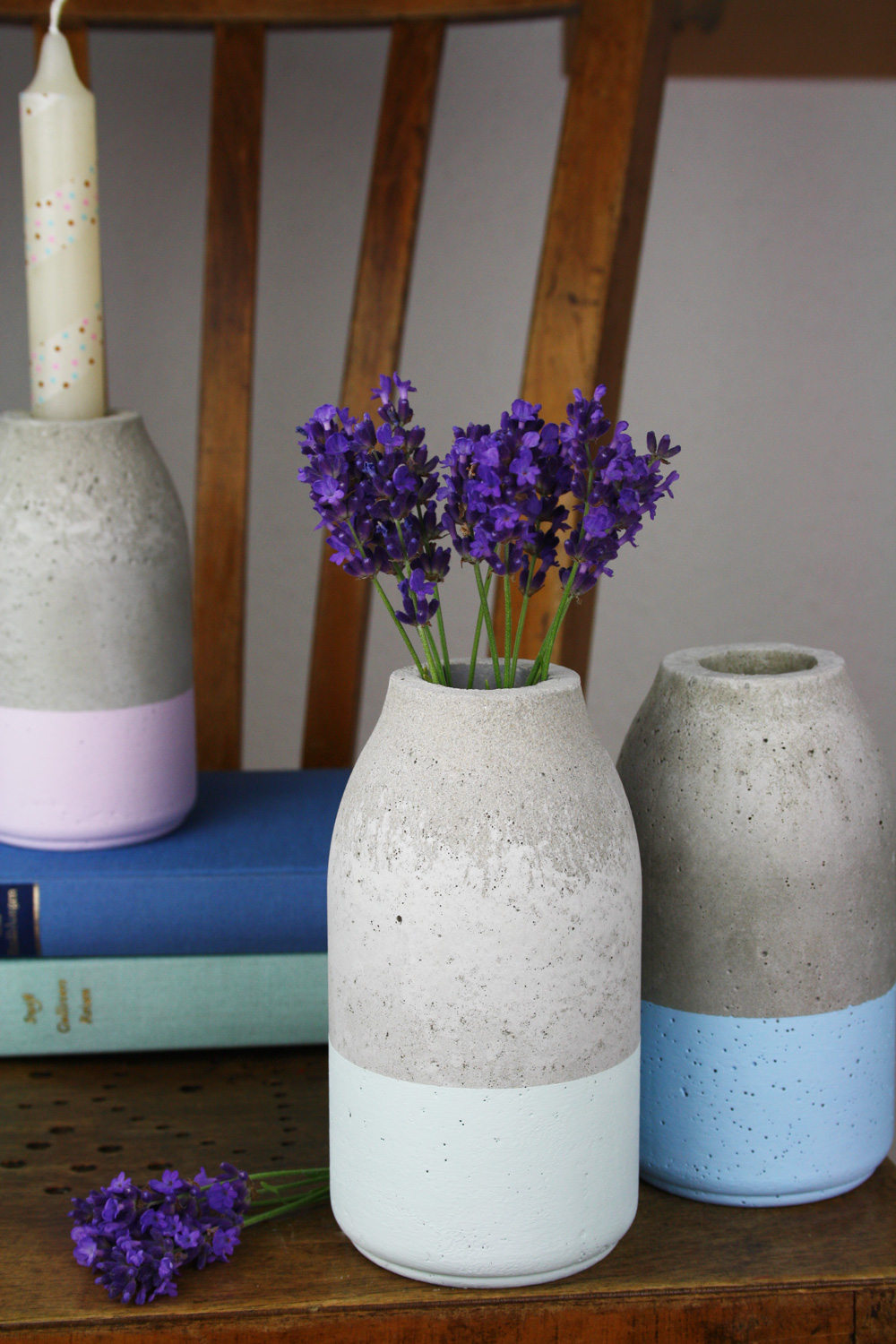 Bottle Shaped Concrete Vase