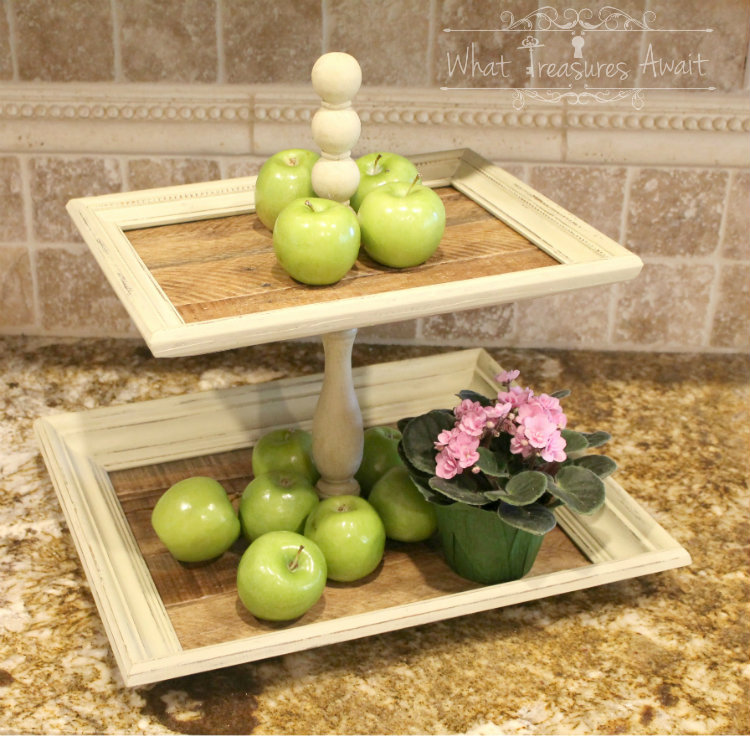 DIY Tiered Tray from Frame