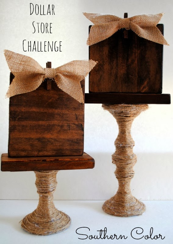Dollar Store Challenge : Glass Candlestick
