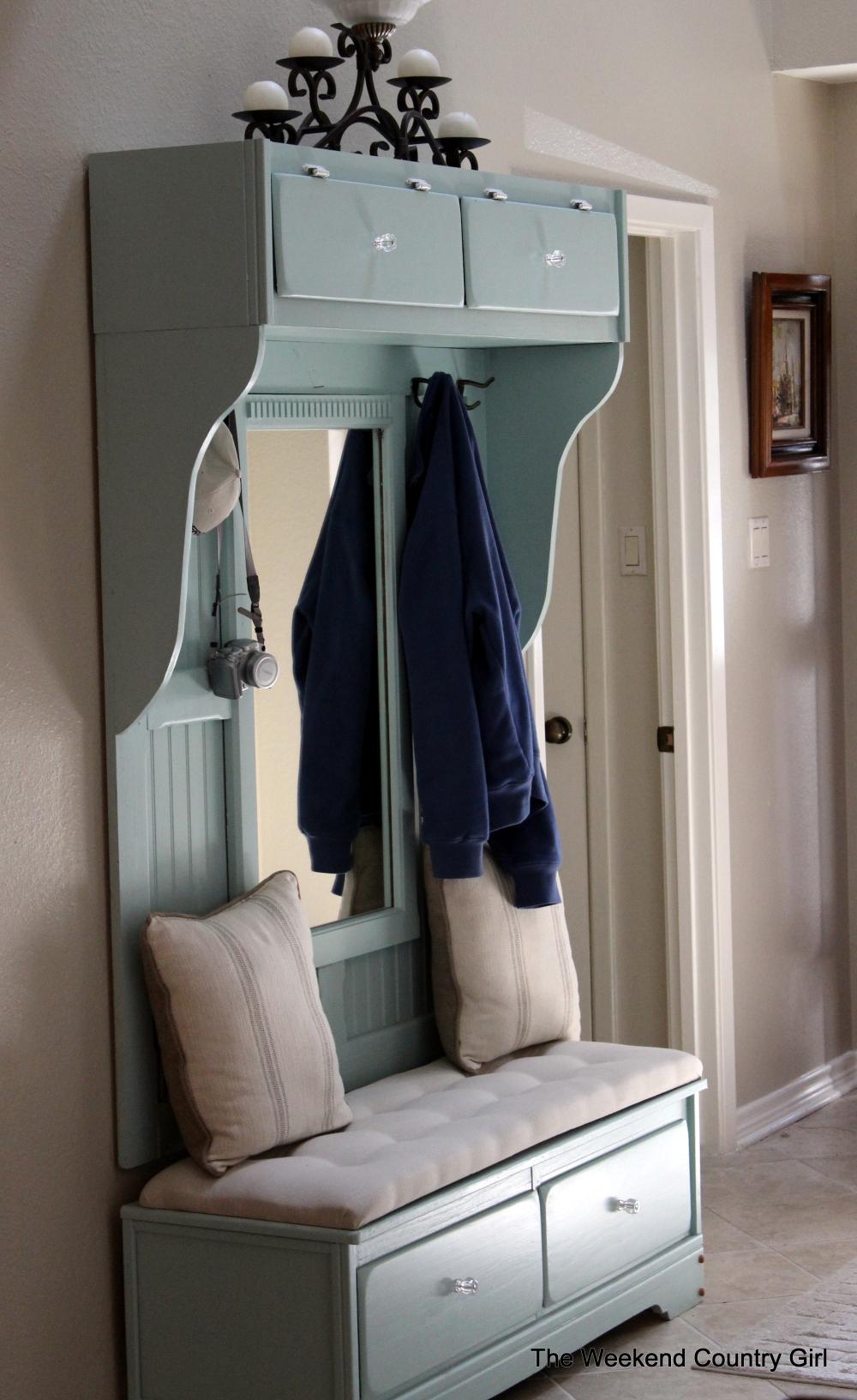 Dresser to Mudroom Bench