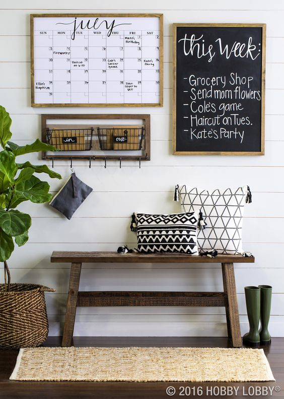 Farm-Inspired Mudroom with Chic Touches