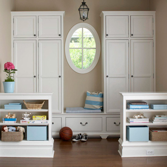 Neatly Spaced Mudroom