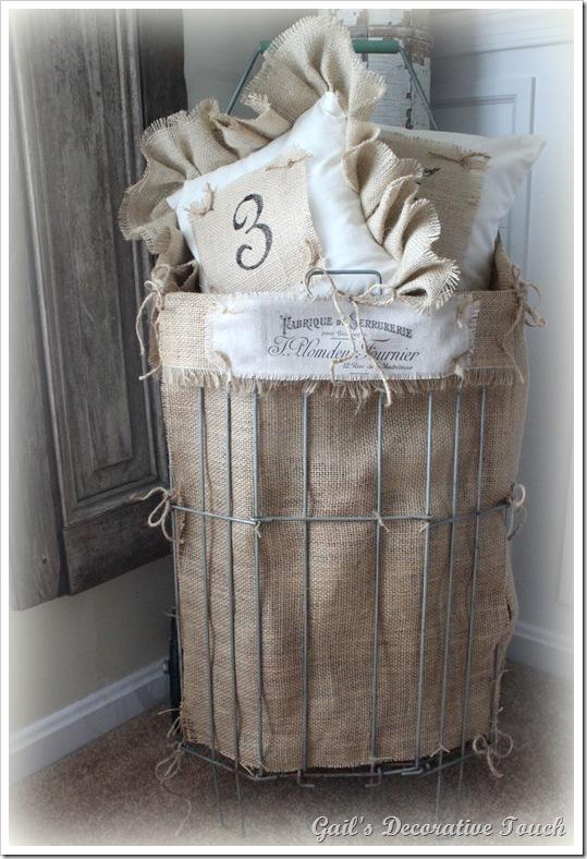 Vintage Wire Shopping Cart Basket