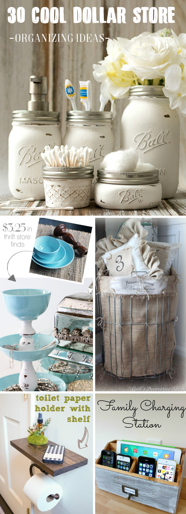 30 Cool Dollar Store Organizing Ideas Making The Most of your Space with Utmost Style