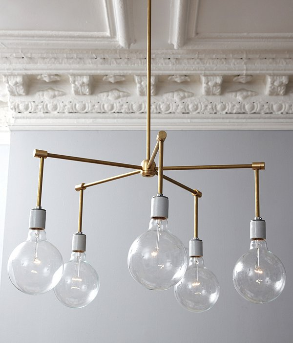 Brass Chandelier DIY