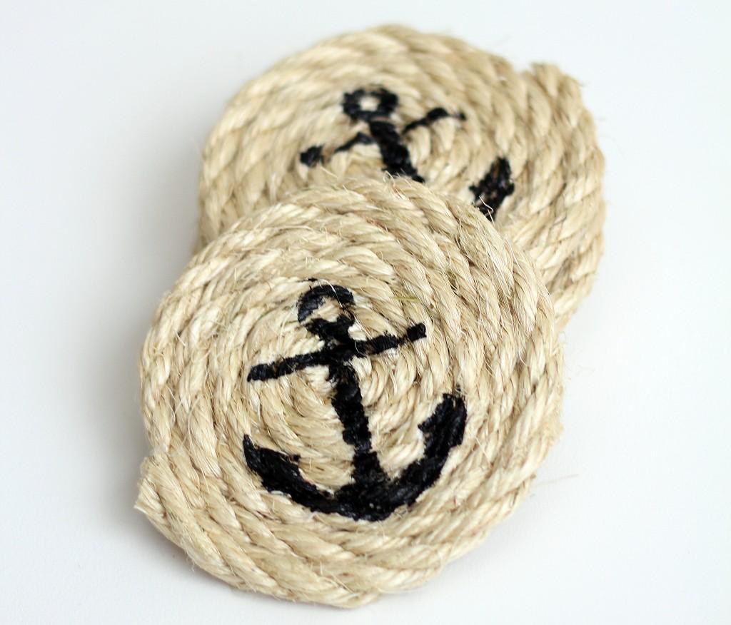DIY Nautical Sisal Rope Coasters