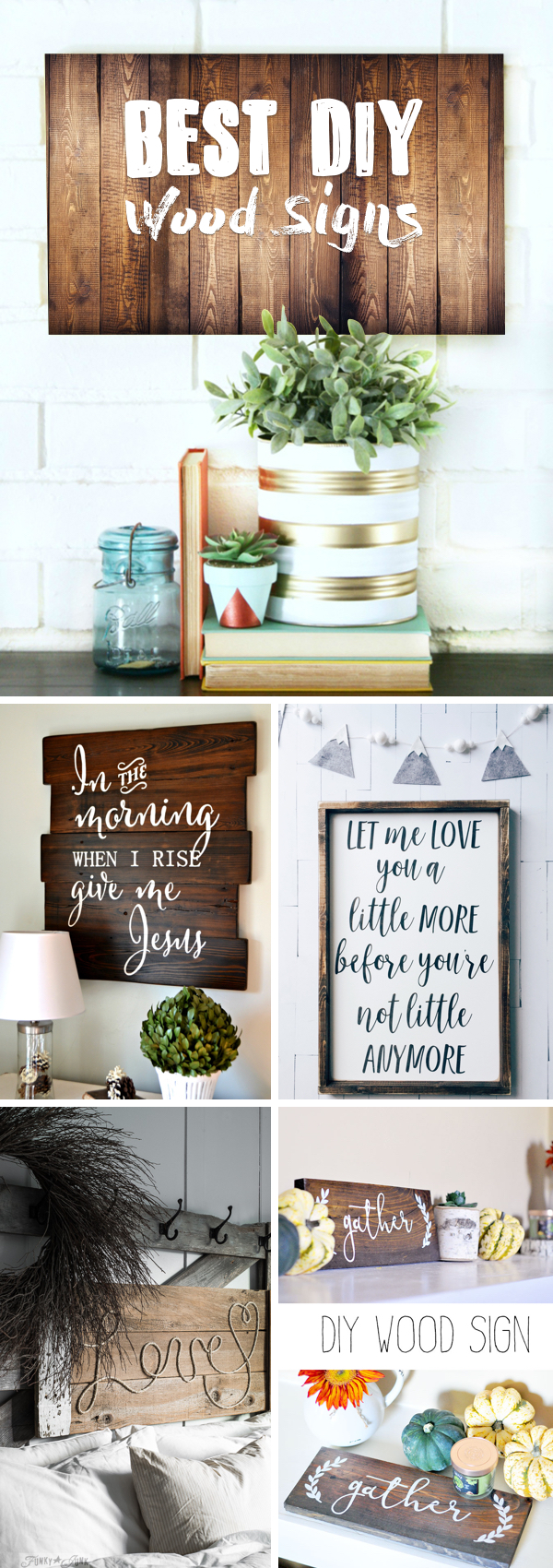 DIY Wood Signs Showcasing Your Designs with Rusticness at its Best