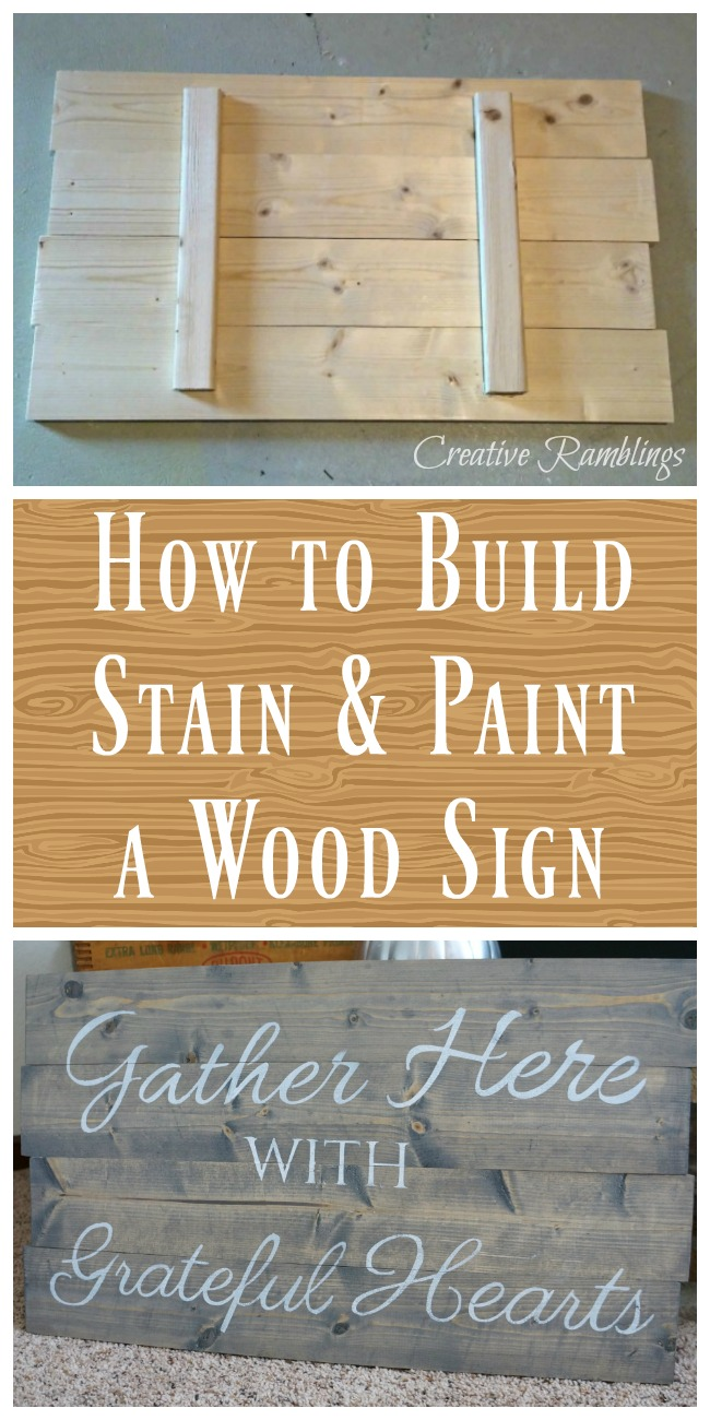 How to Build and Paint a Wood Sign