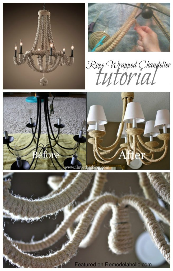 Knock-Off DIY chandelier