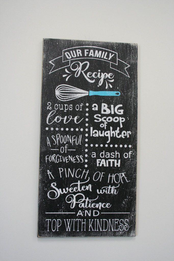 Our Family Recipe Kitchen Wall Decor