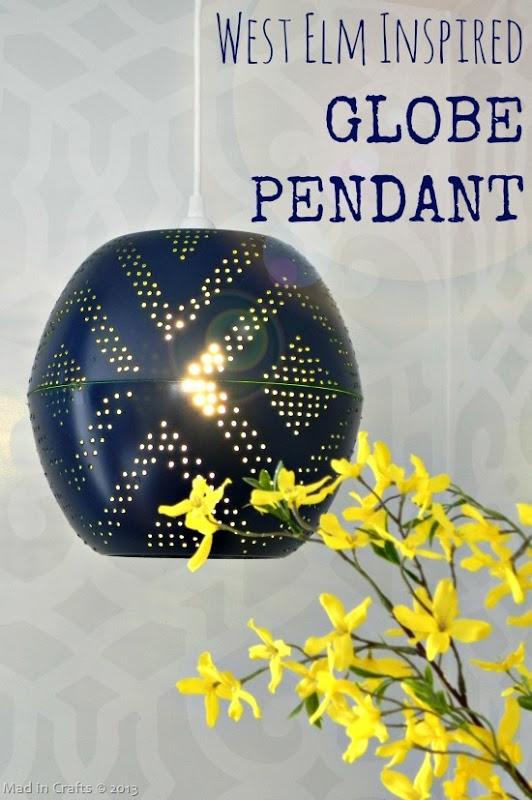 Perforated Globe Pendant Lamp