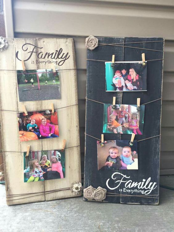 Wood Sign Photo Display