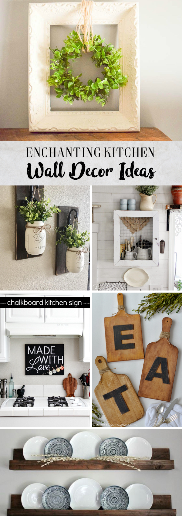 30 enchanting kitchen wall decor ideas that are oozing with style. Black Bedroom Furniture Sets. Home Design Ideas