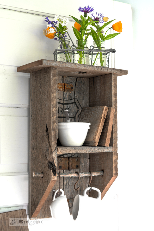 A Reclaimed Wood Branch Shelf
