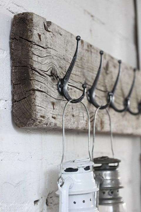 Barn Wood Hook Board