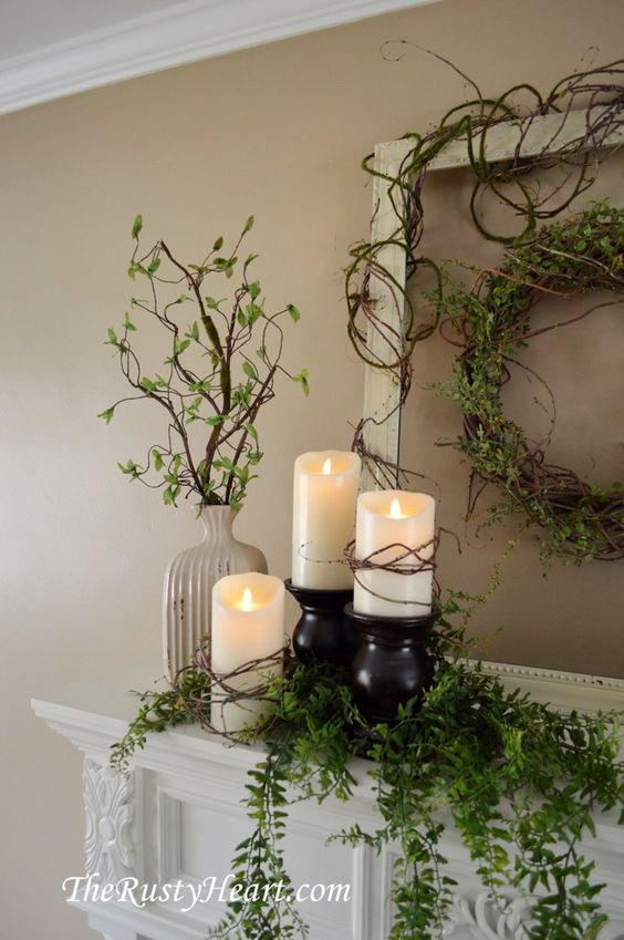 Combine Candle Glow with Fresh Greens