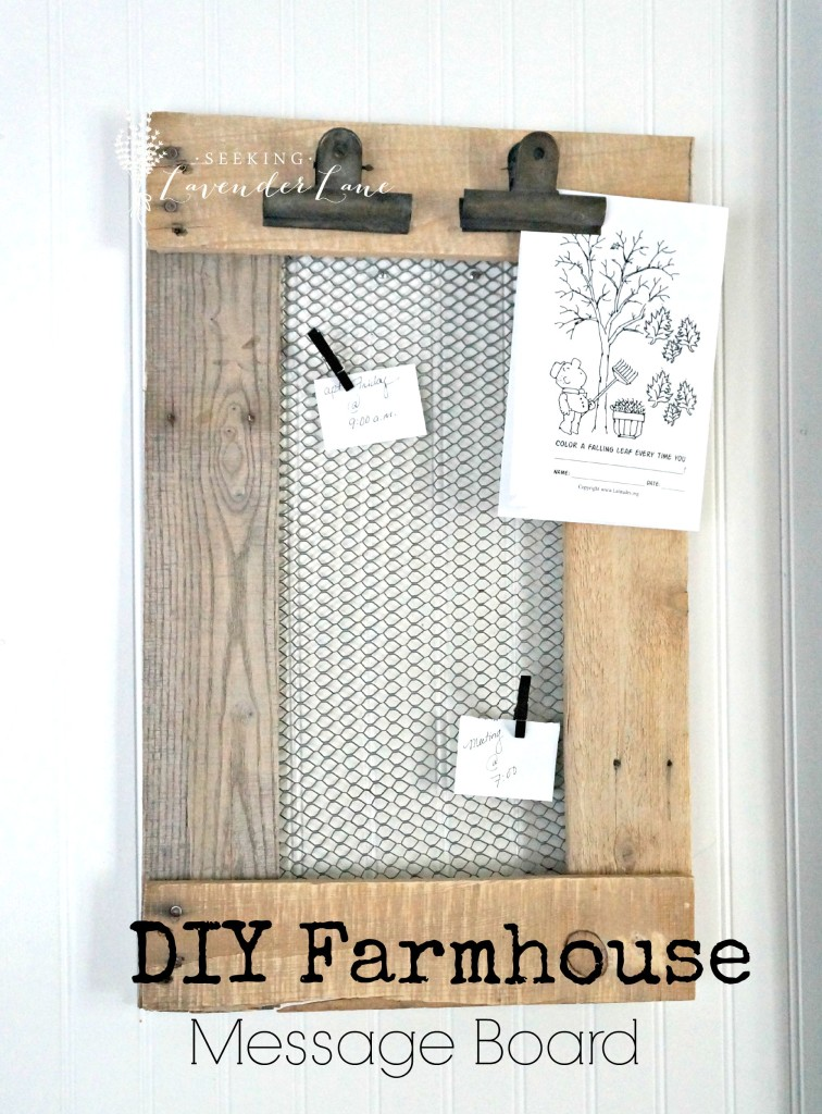 DIY Farmhouse Message Board