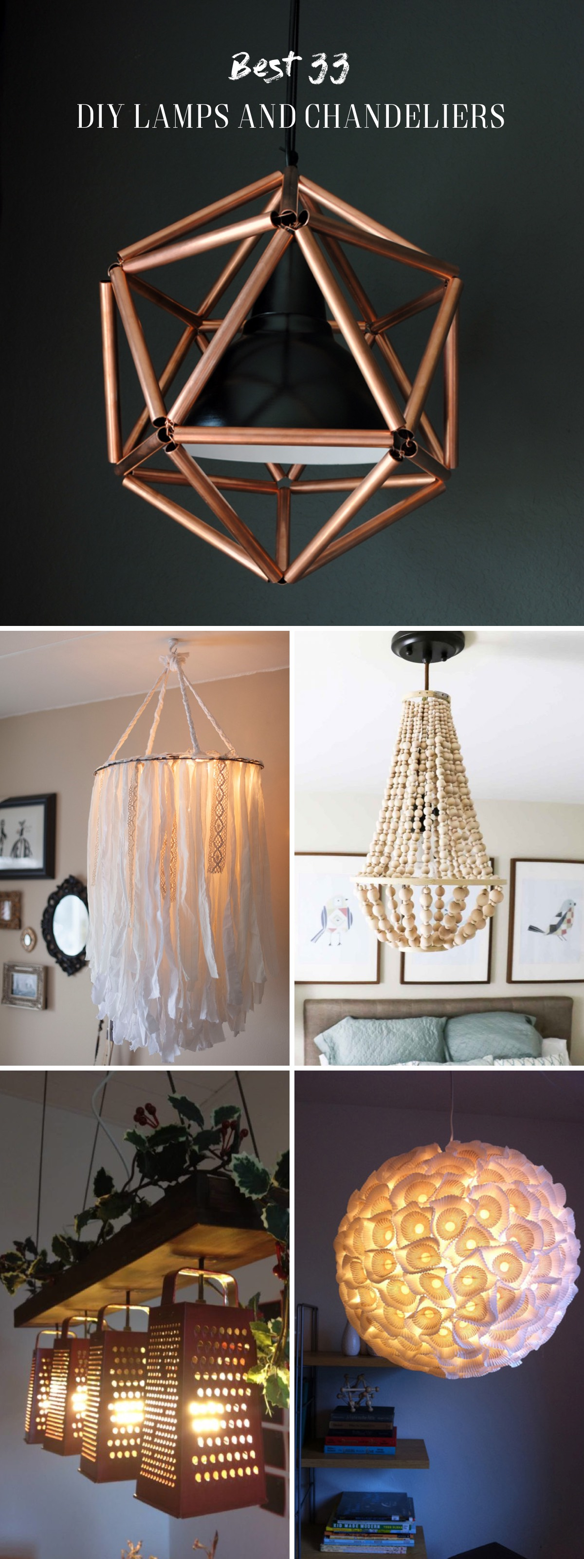 33 Diy Lamps And Chandeliers Lighting Up Your Home With Glory