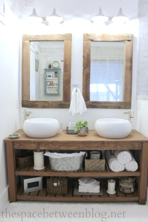 DIY Reclaimed Wood Framed Mirrors