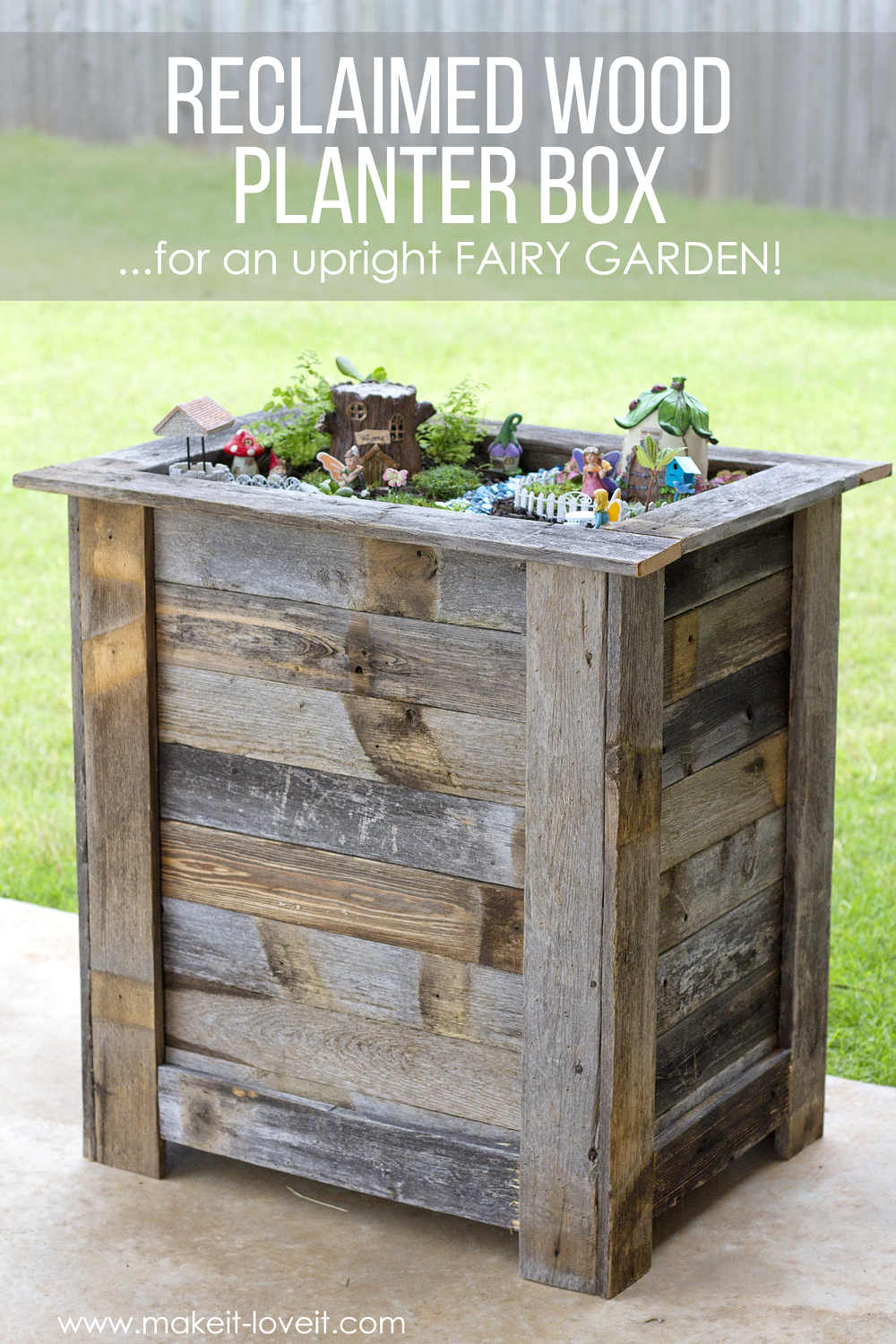 DIY Reclaimed Wood Planter Box
