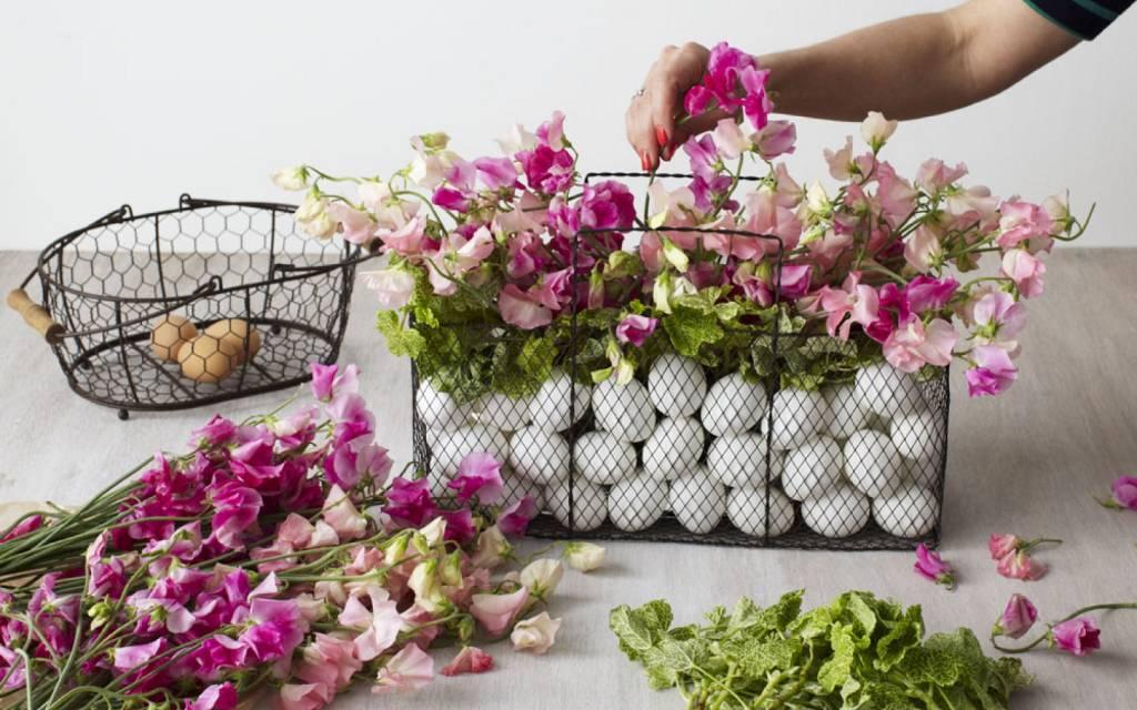Easter Egg Flower Basket