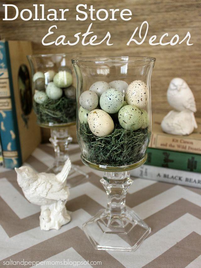 Easter Nest in Hurricane Glasses