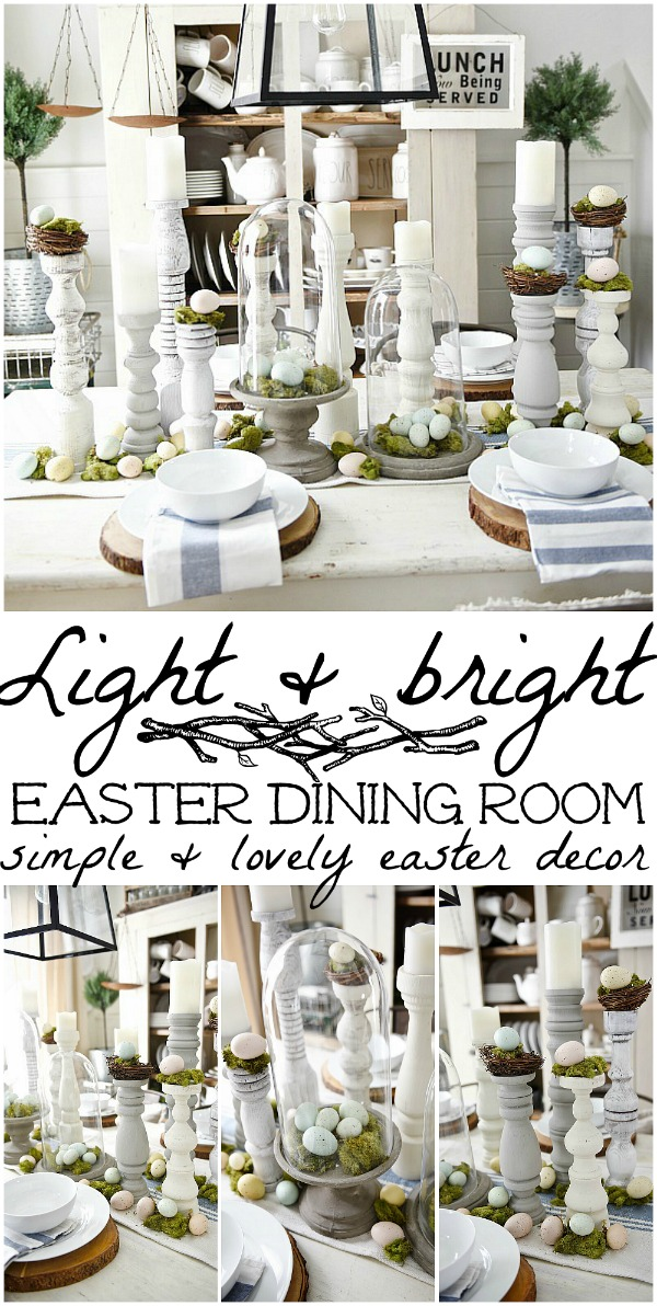 Easter Tablescape and Handmade Candle Holders
