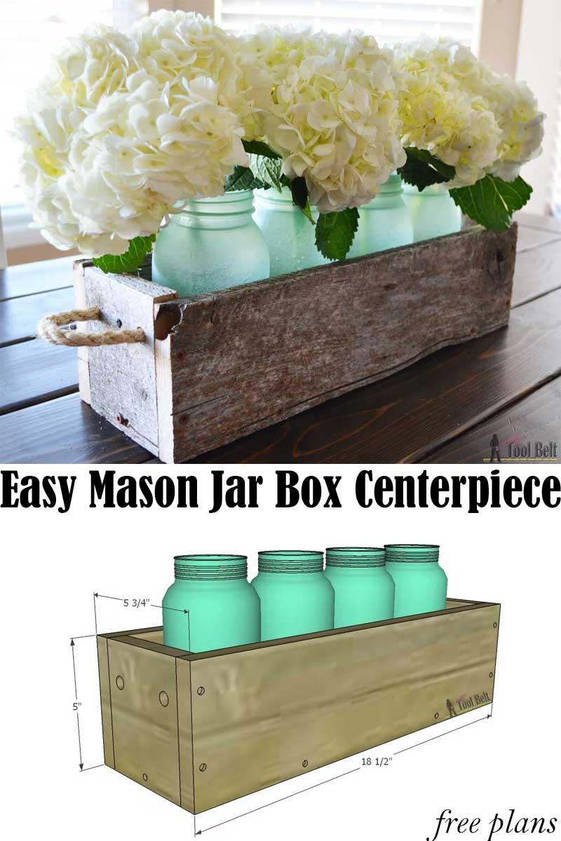 Easy Reclaimed Wood Box Centerpiece