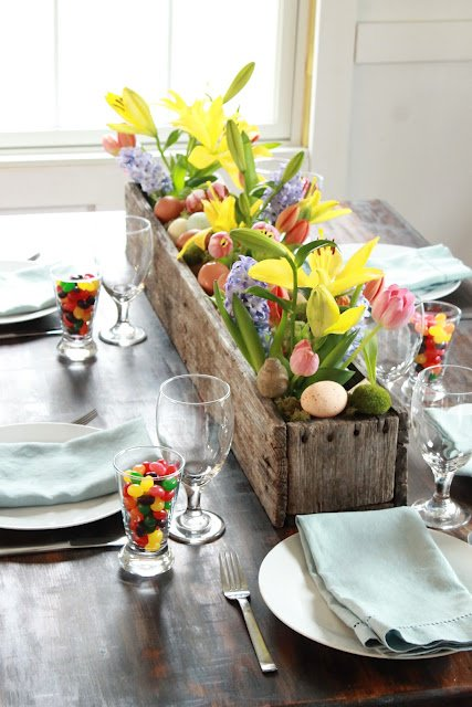 Flower Box Easter Centerpiece