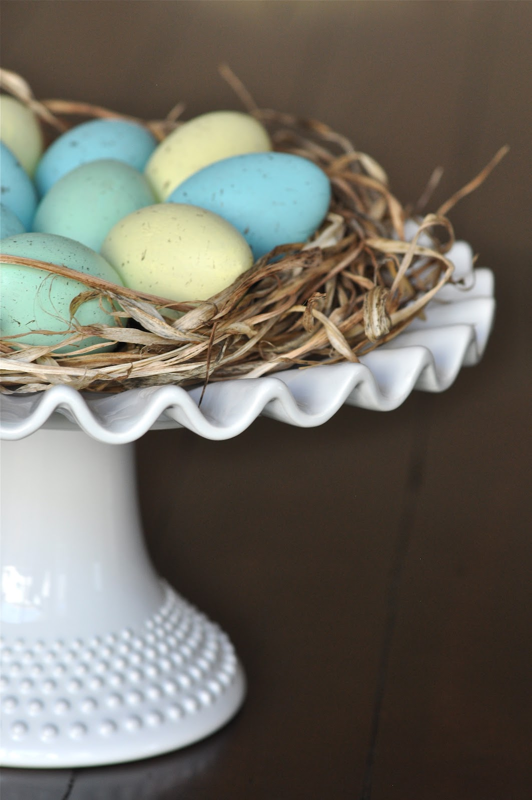 Painted Easter Eggs and Nest