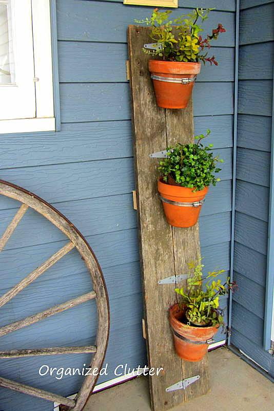 Reclaimed Wood Flower Pot Holder