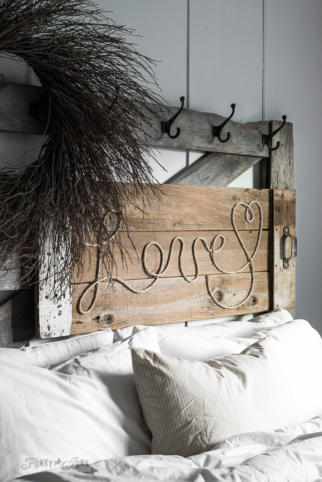 Reclaimed Wood Love Rope Sign