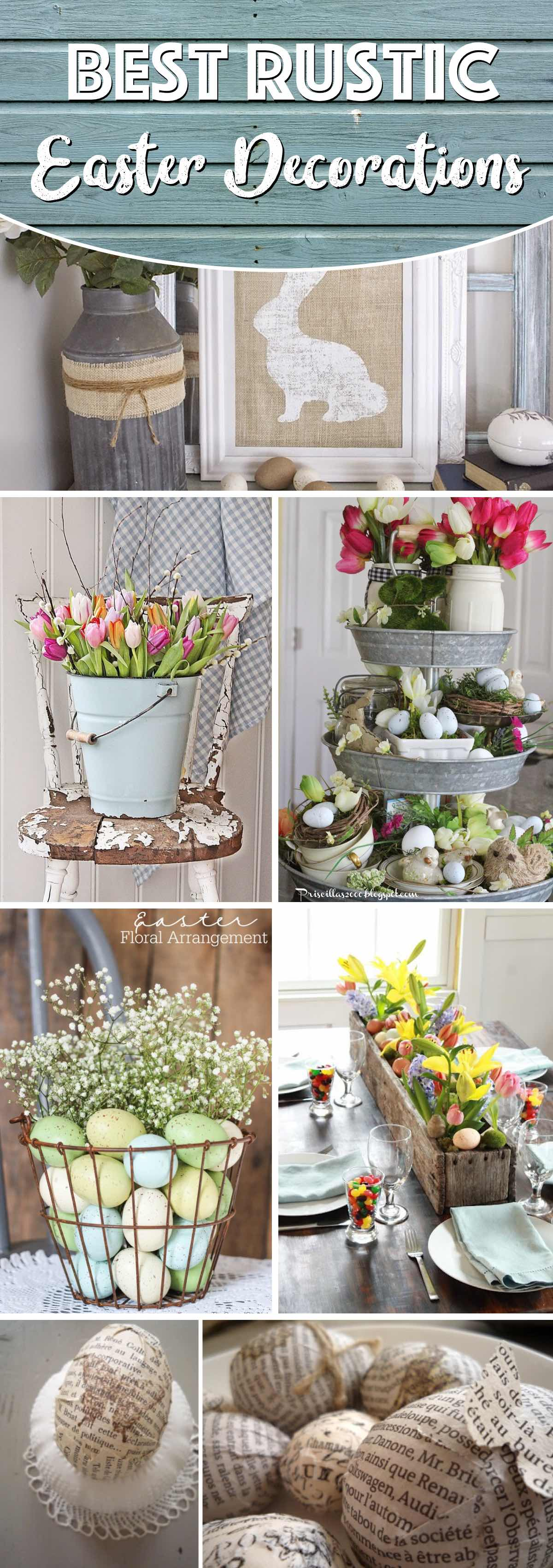 20 Rustic Easter Decorations Bringing a Farmhouse Appeal ...