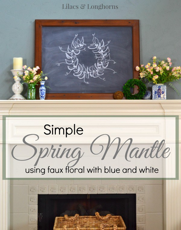 Simple Blue and White Spring Mantle