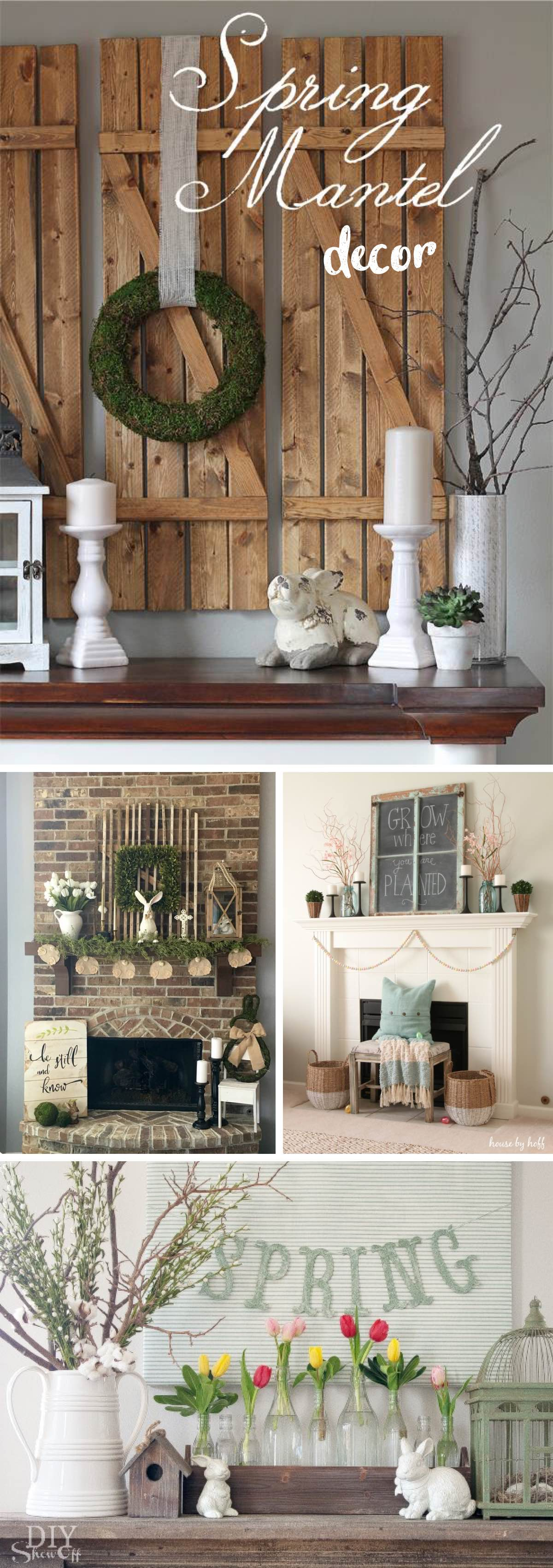 24 Spring Mantel Decor Ideas To Brighten up The Space with ...