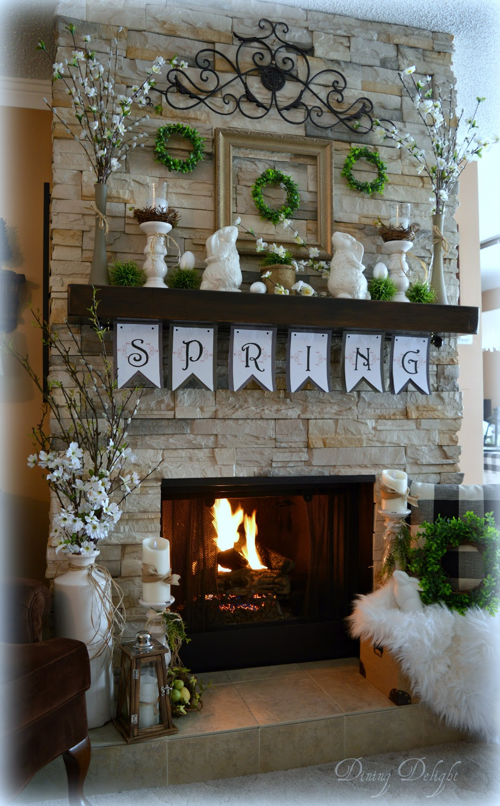 Spring Mantle and Hearth