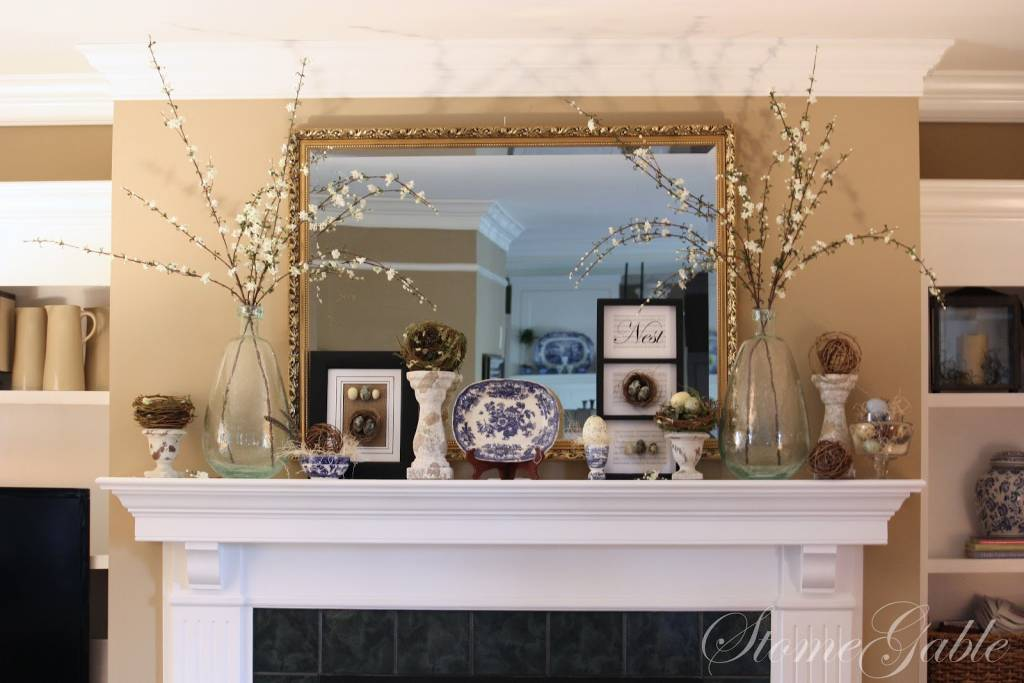 Spring Nests Mantle Decor
