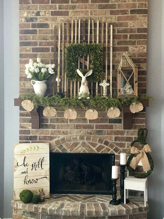 24 Spring Mantel Decor Ideas To Brighten Up The Space With