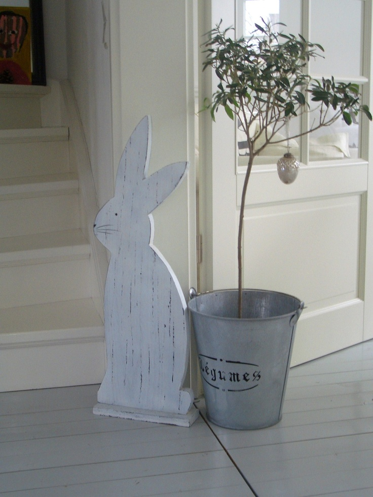 Wooden Bunny Decor