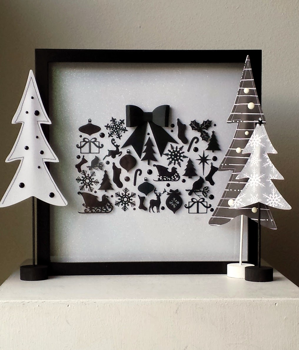 Christmas shadow box scene