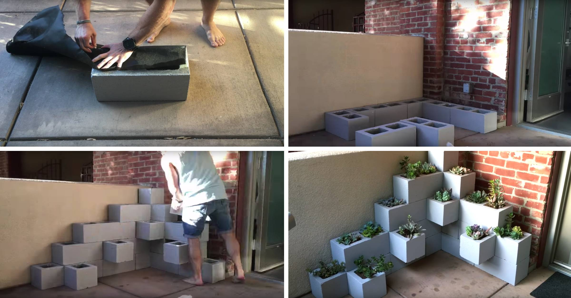 This Stunning Assembly Of Cinder Blocks And Succulents Are All Your Front Porch Needs