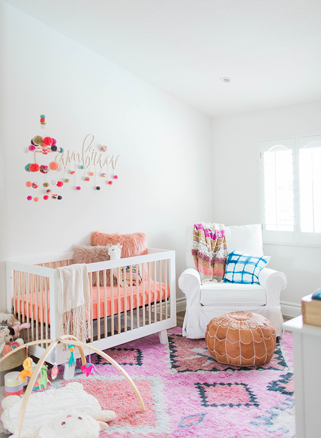 Colorful Coral Nursery for Baby Girl