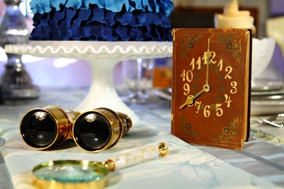 DIY Vintage Book Clock Table Number