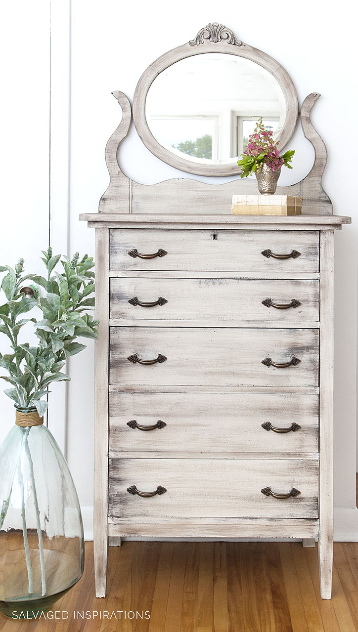 DIY Weathered Wood Bedroom Dresser