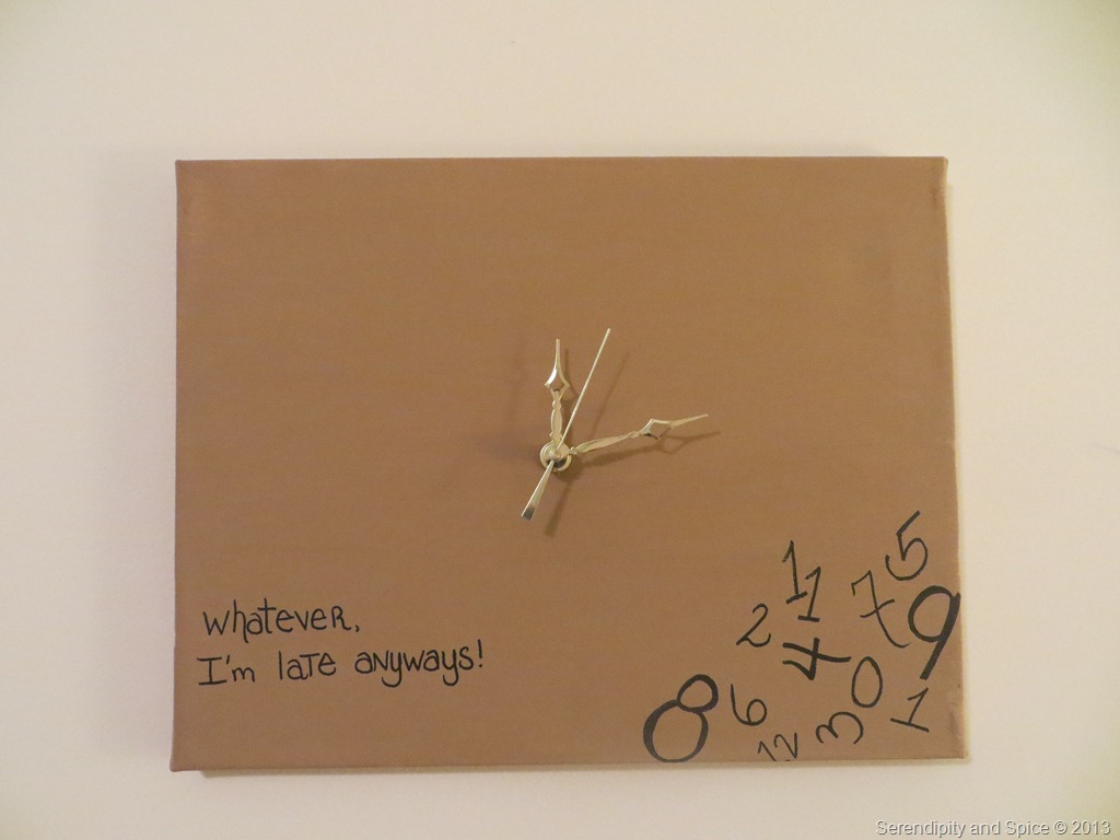 DIY Whatever I'm Late Anyways Clock