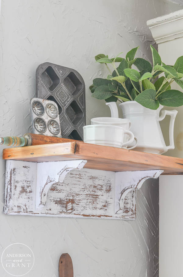 Distressed Farmhouse Shelf