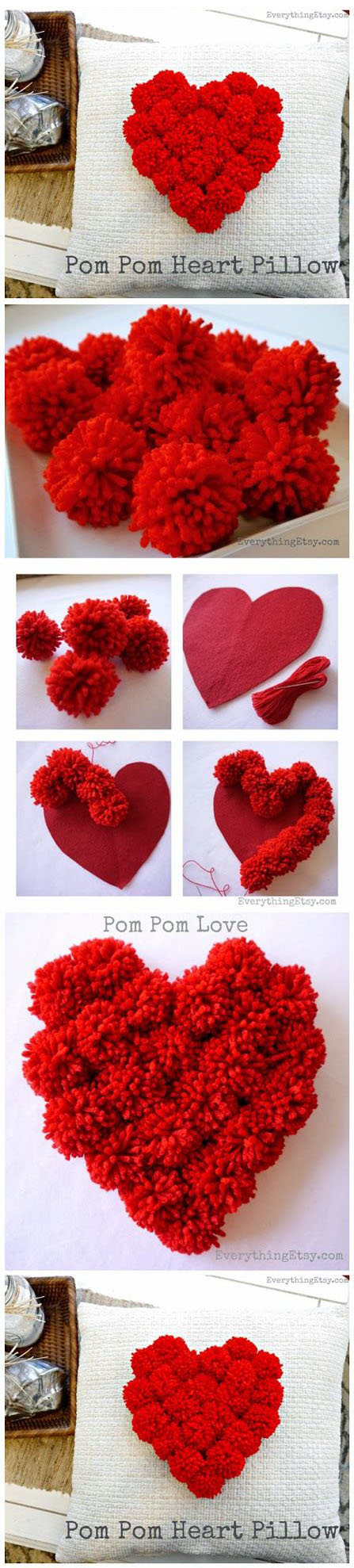 Diy Beautiful Heart Pillow