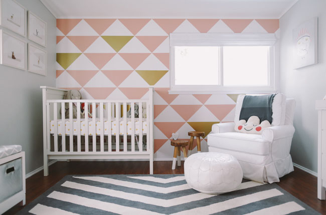 High-Contrast Patterned Accent Wall
