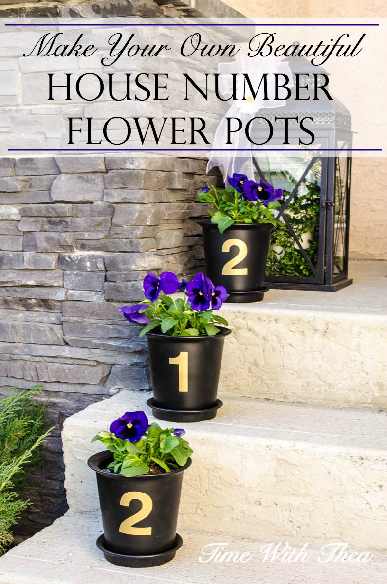 Make Your Own Beautiful House Number Flower Pots